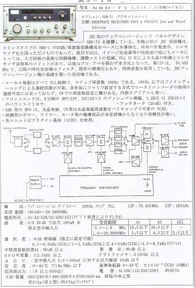 日本無線/JRC NRD-71解説ページ