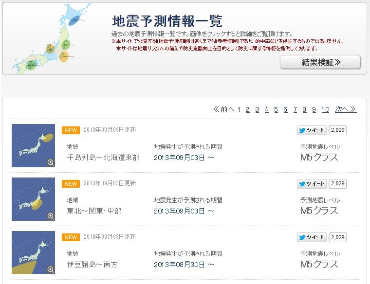 地震予測検証・地震予知情報 / 防災情報【ハザードラボ】